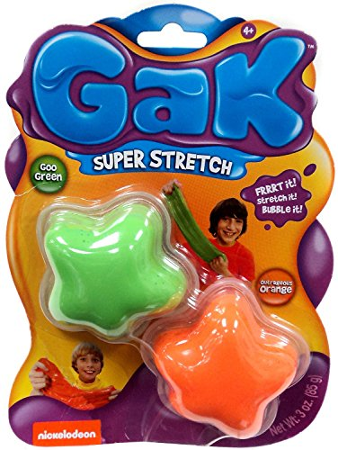 Nickelodeon Gak Super Stretch Goo Green & Outragous Orange by Nickelodeon (Image #1)