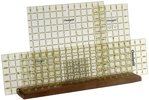 "Omnigrid Wood Ruler Rack, 20"" x 4"" x 3/4"