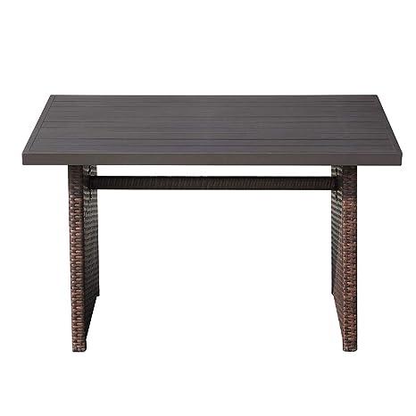 Amazon.com: Mesa de café para patio al aire libre, mesa de ...