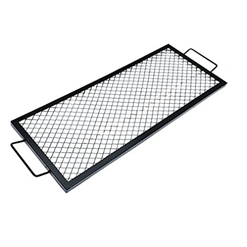 Onlyfire Rectangle X-Marks Fire Pit Cooking Grate, 36-Inch (Pit Fire Fire For Grate)