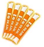 Brite Boltz - Spirit Orange & White Team Light Up Spirit Bang Sticks - Party School Cheering Sticks 10 pack