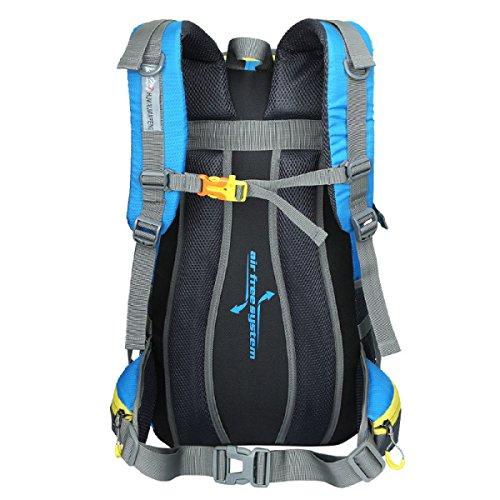 LQABW Moda Deportes 45L Litros Profesional Alpinismo Impermeable Y Transpirable Hombro Al Aire Libre De Los Hombres Y De Las Mujeres Bolsa Mochila,Orange Black