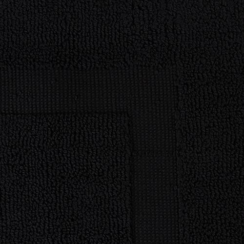 Utopia Towels 21-Inch-by-34-Inch Luxury Hotel-Spa Tub-Shower Bath Mat Floor Mat, 2 Pack, 100 Percent Ringspun Cotton, Luxury Size, Maximum Absorbency, Machine Washable, Black by Utopia Towels (Image #6)