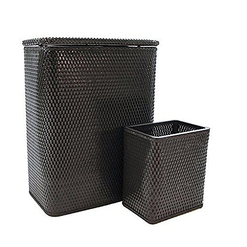 (Redmon Chelsea Collection Hamper and Wastebasket Set Espresso, 24)