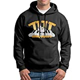 cretors popcorn maker - FDLB Men's Hamster On A Piano Eating Popcorn Traveler Funny Hoodie Hooded Sweatshirt XXL Black