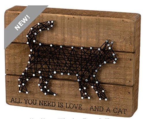 (Primitives by Kathy - String Art - All You Need is Love and a Cat)