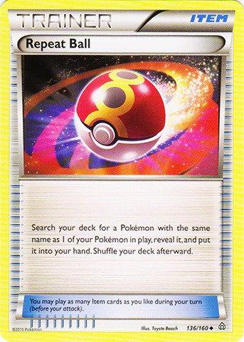 Pokemon - Repeat Ball (136/160) - XY Primal Clash (Pokemon Card Repeat Ball)