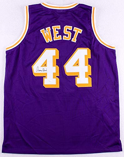 Jerry West Autographed Purple Los Angeles Lakers Jersey - Hand Signed By Jerry West and Certified Authentic by JSA - Includes Certificate of Authenticity