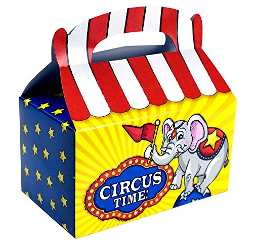 Costumes Ideas For Circus Theme (Treat Boxes Bundle by Imprints Plus Includes (12 Pack) Plus Non-Negotiable Million Dollar Bill (Circus))
