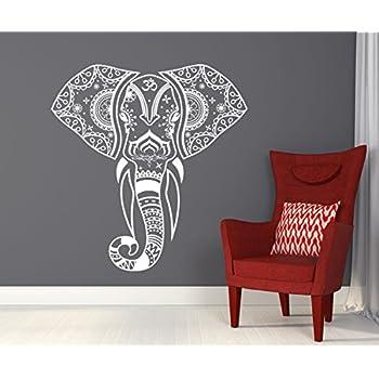 Wall Vinyl Sticker Decals Decor Art Bedroom Design Mural Ganesh Om - Elephant wall decals