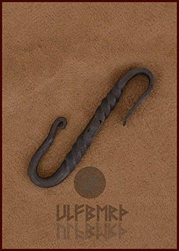 7/cm LARP Medieval Viking Approx Exclusive Hand-Finished Belt Steel Hanger S Hook Length