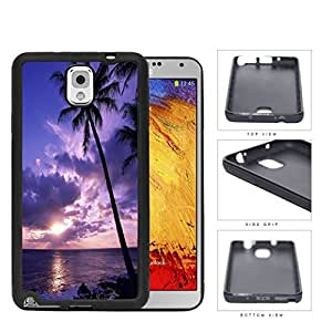 Beach Sunset Scenery With Palm Tree Silhouette Rubber Silicone TPU Cell Phone Case Samsung Galaxy Note 3 III N9000 N9002 N9005