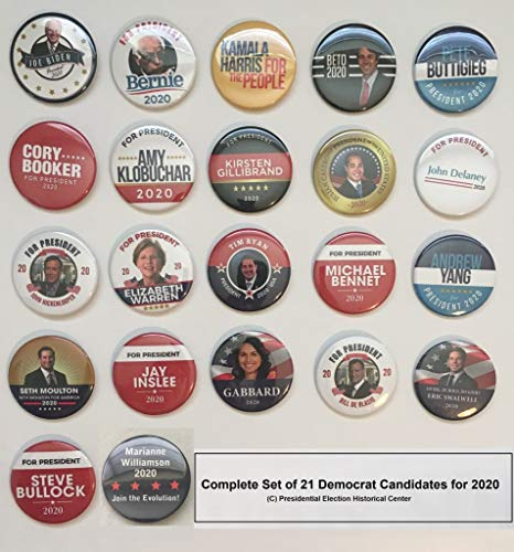 - Presidential Election Historical Center 2020 Democrat Candidates Collectors Set #2 - Set of 22-2.25 inches