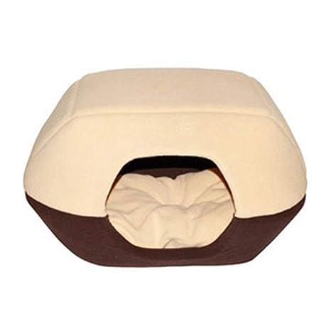 Togames-ES Doble Propósito Plegable Cálido Mascota Nido Casa de Mascotas Multifuccional para Perros Gatos