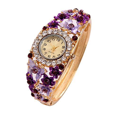 - Womens Quartz Bangle Wrist Watch Lady Crystal Jewelry Bracelet Watches