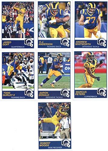 (2019 Panini Score Football Veteran Los Angeles Rams Team Set of 13 Cards: Jared Goff(#293), Marcus Peters(#294), Aaron Donald(#295), Todd Gurley II(#296), Cooper Kupp(#297), Robert Woods(#298), Brandin Cooks(#299), Cory Littleton(#300), Johnny Hekker(#301), John Johnson(#302), Ndamukong Suh(#303), C.J. Anderson(#324), Andrew Whitworth(#327))