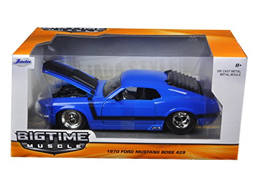 1970 Ford Mustang Boss 429 Blue 1/24 by Jada 98026 -  Jada Toys