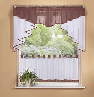 süße blatt blume gestickte vorhang küche vorhang kaffee screen-ein ... - Küche Vorhang