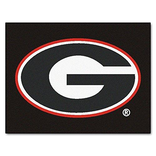 University Bulldogs Rug - University of Georgia Black Logo