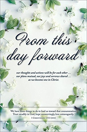 amazon com wedding program bulletin from this day forward msg