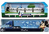 Disney Monorail 2018 Disney Theme Parks Transportation - Walt Disney Parks Model Peterbilt Semi Hauler Truck Tractor Trailer Die-Cast Exclusive 2-Pack