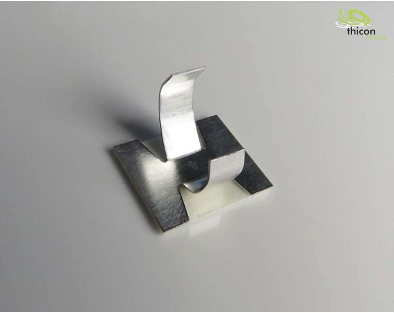 THICON-MODELS Kabelschelle gro/ß selbstklebend Metall 8 St/ück