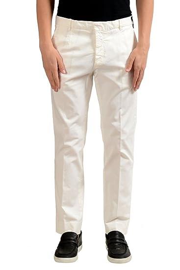 3593dd13f45 Fendi Men s White Dress Pants US 34 IT 50  at Amazon Men s Clothing store