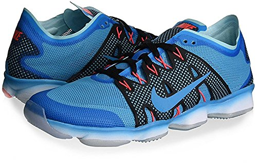 Nike Womens Air Zoom Fit Agility 2 Ankle-High Running Shoe, BLUE LAGOON/BL LGN-CP-BRIGHT CRIMSON, 36 B(M) EU/3 B(M) UK