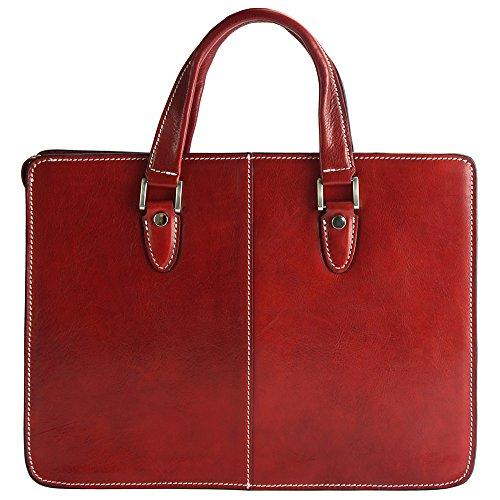 Rolando Florence Leather Cuir Rouge 7629 Vachette Market Élégant En Cabas Clair De Trés qrtxArad