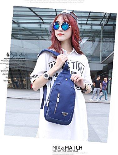 Pecho x Wewod de Bag W H Chest Outdoor L Bolsa Para Mensajero 5 Ocio Bolso del Cuero 18 cm Bandolera Azul 35 de Deportes Viajes 7 Casual x wEAwqrHc