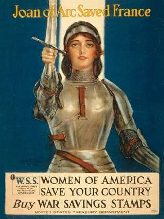 Posterazzi Poster Print Collection Joan of Arc France-Women of America Save Your Country 1918 Haskell Coffin, (9 x 12), Multicolored