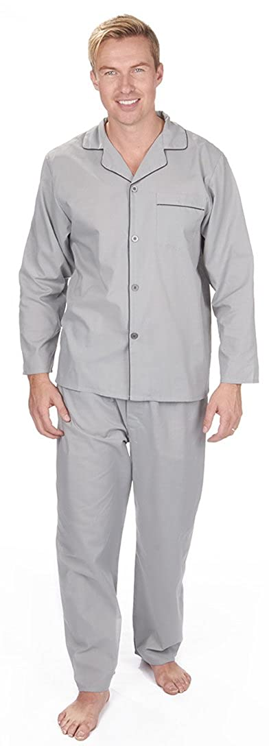 Mens PLUS SIZE Cotton Pyjamas OR Luxury Flannel Fleece Dressing Gown Winter Warm Brushed OR NON-Brushed PJs