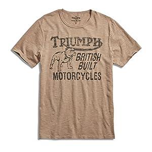 Lucky Brand Men's - Triumph Motorcycle Bulldog Logo T-Shirt (Medium)