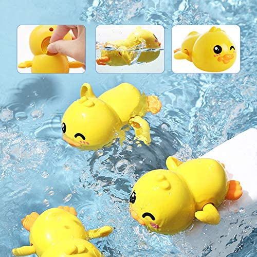 51JiPMbQEIL. AC - Baby Bath Toys Bathtub Swimming Floating Toys Duck, Crab, Turtle, Submarine 4PCS Set Pool Beach Water Play Toys For 1 To 4 Years Old Children Kids Toddlers
