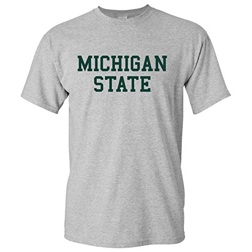 AS01 - Michigan State Spartans Basic Block T-Shirt - Medium - Grey
