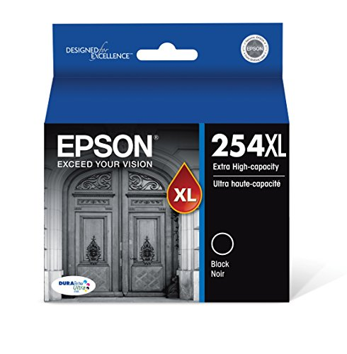Epson DURABrite Ultra 254XL Extra High-Capacity Ink Cartridge, Black (T254XL120)