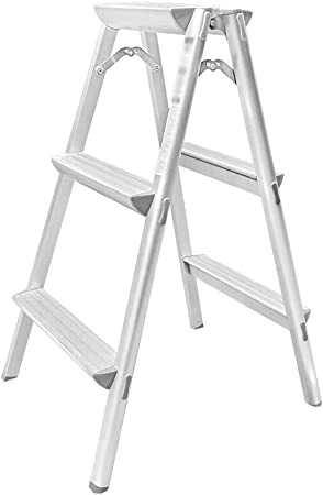 XINGZHE Escalera Taburete Plegable Aluminio Espesamiento del hogar Espiga Decoración Bisagra Proyecto Escalera de Escalada, 80X46X66cm, 122X46X66cm De múltiples Fines (Size : 80X46X66cm): Amazon.es: Hogar