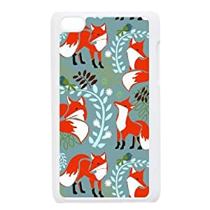 Unique Design Protective Hard Plastic Case for Ipod Touch 4 - Cute Fox Print cheap case at CHXTT-C