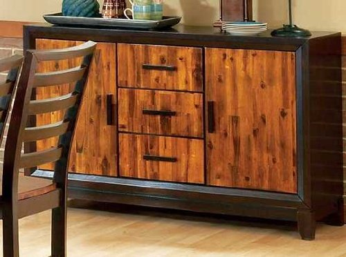 Abaco 2-Toned Side Board in Multi-Step Acacia Finish