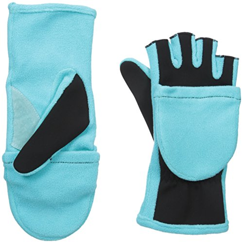 Aqua Mittens (Isotoner Women's Flip Top Gloves with Convertible Thumb, Aqua Sea, One Size)