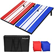 GoSports Classic Cornhole Set – Includes 8 Bean Bags, Travel Case and Game Rules (Choice of Style)