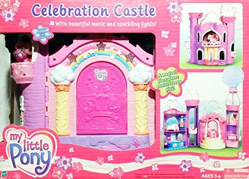 My Little Pony G3: Celebration Castle Playset with Music, Lights and Baby Pony Pink Sunsparkle by Hasbro