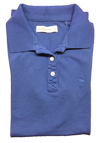 Abercrombie and Fitch Women's Polo Shirt Small Blue