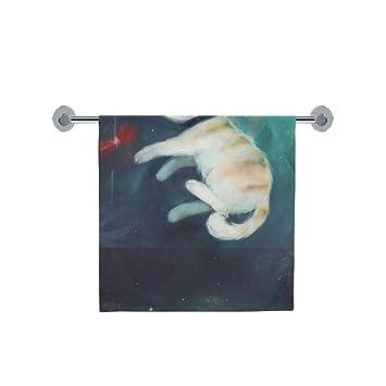 Amor naturaleza personalizado gato en espacio baño cuerpo ducha toalla de baño Wrap para el hogar. Pasa ...