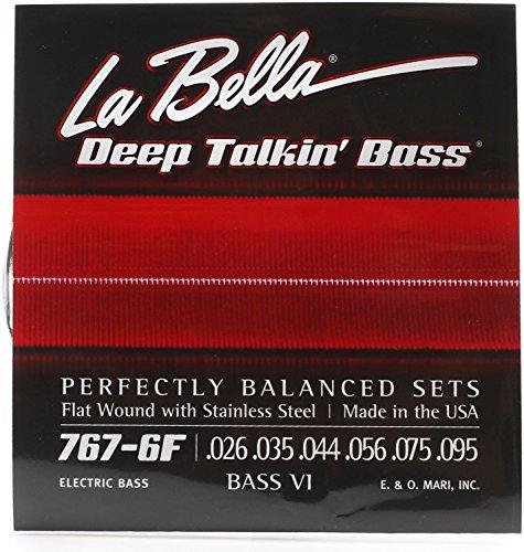 - La Bella 767-6F Bass VI Strings - Flatwound