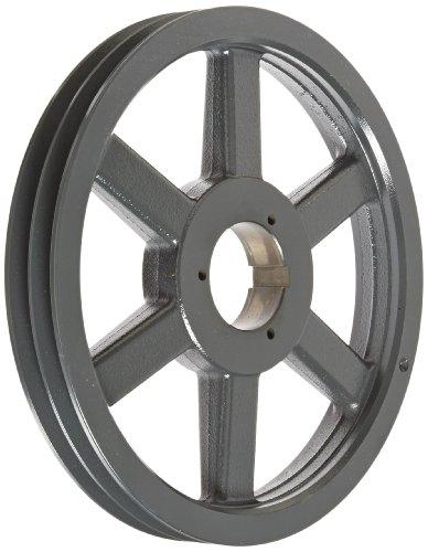 Browning 2B5V124 Split Taper Sheave, Cast Iron, 2 Groove, A, B or 5V Belt, Uses B Bushing -