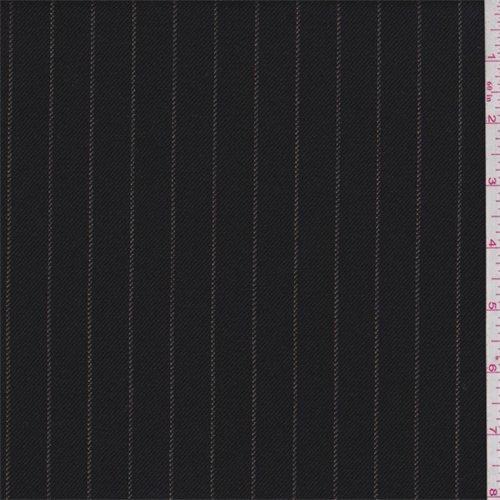 Wool Pinstripe Suiting - 5