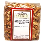 Bergin Nut Company Walnuts Halves and Pieces, 11-Ounce Bags (Pack of 3)