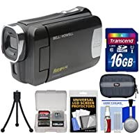 Bell & Howell DNV6HD Rogue Infrared Night Vision 1080p HD Video Camera Camcorder (Black) with 16GB Card + Case + Flex Tripod + Cleaning Kit
