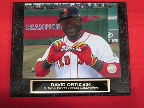 Red Sox World Series Ring (Red Sox David Ortiz Collector Plaque w/8x10 WORLD SERIES RINGS Photo!)